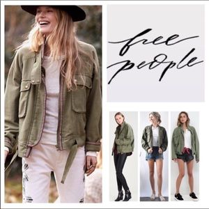 Free People Flight Line Utility Jacket.  NWT.